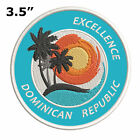 """Excellence Dominican Republic 3.5"""" Embroidered Iron or Sew-on Patch Souvenir"""
