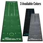 PuttOut Pro Golf Putting Mat - Practice Green Training Aid w/ Alignment Guides