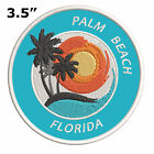 Palm Beach Florida Embroidered Iron-On / Sew-On Patch Vacation Souvenir Applique