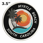 Myrtle Beach South Carolina Embroidered Patch Iron / Sew-On Vacation Applique