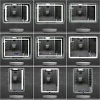LED Bathroom Mirror Lights Illuminated Mirrors TOUCH SWITCH Demister Pad Heated