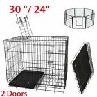 Small Medium Large Pet Dog Cage Crate Foldable Carry Transport Carrier Cages ae