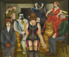 Art HD Print Oil Famous Painting Richard Lindner The Meeting Wall Decor