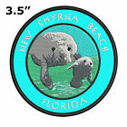"New Smyrna Beach Florida 3.5"" Embroidered Iron or Sew-on Patch Souvenir"