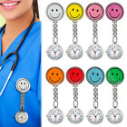 Stainless Steel Round Smile Nurse Watch Silver Pendant Fob Pocket Brooch Watch image
