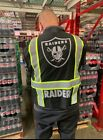 RAIDERS NATION BLACK REFLECTIVE SAFETY VEST W/SILVER REFLECTIVE LOGO
