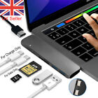 7in1 USB-C Hub Dual Adapter Multiport Reader 4K HDMI Type-C For MacBook Pro Lot