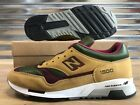 New Balance 1500 M1500TGB Shoes Tan Olive Green Burgundy Red SZ NEW WITH BOX!!