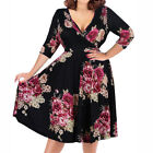 Big Plus Size Women Vintage 50s Retro Rockabilly Pinup Party Swing Dress 3XL-9XL