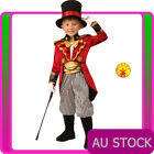 Deluxe Kids Ringmaster Magician Costume Circus Boys Child Lion Tamer Book Week