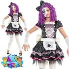 Kids Girls Teen Dead Doll Costume Halloween Creepy Dolly Fancy Dress Outfit