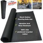 Heavy Duty Black Rubber Flooring Rolls Mat Made From Abrasion And Wear Resistant image