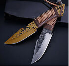 Hunting Fixed Blade Knife Survival Portable Camping Tactical Fishing Knives US