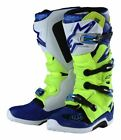 Alpinestars Tech-7 Troy Lee Designs TLD Motocross Boots Yellow Flo/Blue/White MX