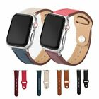 2020 Luxury Genuine Leather Watch Band For Apple iWatch 5/4/3/2/1 38 40 42 44mm image