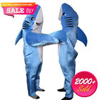 Shark Costume Kids Hollaween Animal Party Suit Cosplay Adult Blue Fancy Dress