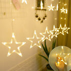 138 Led Stars Curtain Lights Window Fairy String Xmas Wedding Party Home Decor