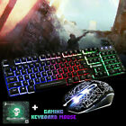 LED Illuminated Gaming Keyboard Wired Backlit PC Mechanical Feeling Backlight US