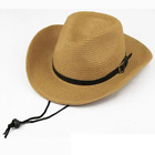 11.11 Hats Straw Braid Men Cowboy Hats with Buckle Western American Mens Hat Sol