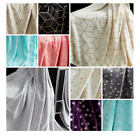 Metallic Stars Pattern Luxurious Soft Warm Cosy Throws Sofa Bed Fleece Blankets