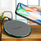 US Qi Wireless Fast Charger Dock Mat Pad For iPhone 11 8 XS Samsung S10 Note 10