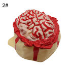 SN_ Realistic Halloween Open Brain Hemorrhage rubber Head Cap Hat Scary Party