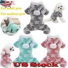 Pet Clothes Cat Pajamas Dog Cute Star Jumpsuit Warm Winter Puppy Coat Outfit US