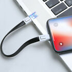 20CM Portable Keychain Lightning/Micro USB/Type-C Data Charging Cable Cord
