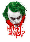 "The Joker Why so Serious 3""-6"" Vinyl Decal Stickers"