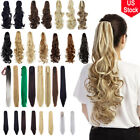 Synthetic Straight Claw Clip Ponytail Extension Long Wavy Pony Tail Hair Piece