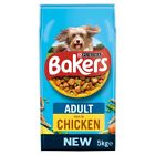 2x Dog Dry Food Bakers Adult Complete Beef  or Chicken Country vegetables 5kg