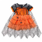 Children Kid Girl Halloween Witch Costume Toddler Fancy Outfit Party Dress UK