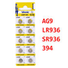 10Pcs AG0 AG1 AG3 AG4 AG6 AG9 AG10 AG11 AG12 Alkaline Button Cell Coin Battery