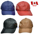 New Real Leather Baseball P cap Golf Hat Driver Golf Blue Red Black Brown