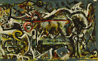 Jackson Pollock The She-Wolf HD Print on Canvas Large Wall Picture Multi Sizes