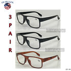 READING GLASSES LENS 3 PACK LOT CLASSIC READER UNISEX MEN WOMEN STYLE LOT 46