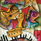 """36W""""x36H"""" JAZZ IT UP II by ERIC WAUGH - SAXOPHONE PIANO KEYS - CHOICES of CANVAS"""