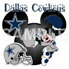 Disney Dallas Cowboys personalized iron on transfer (choice of 1) $3.25 USD on eBay
