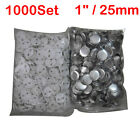 """1000 x 1"""" 25mm for Badge Maker Machine Metal/ABS Pin Badge Button Supplies"""