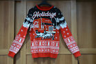 Red Coca Cola Holidays Are Coming Fair Isle Christmas Truck Jumper - All Sizes £39.99  on eBay