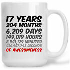 17th Birthday Or Anniversary Gift 17 Years Of Awesomeness Coffee Mug For Mum Dad