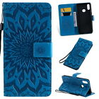 Flip Sunflower Embossed Cover Stand PU Leather Case For Samsung Galaxy A10S A20S