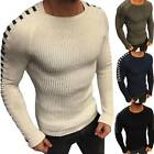 Men Casual Long Sleeve Jumper Formal Knit Crew Neck Sweater Shirt Tops Pullover