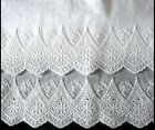 New Embroidered Lace PillowCase White Cotton Sateen Standard Queen King One M6# image