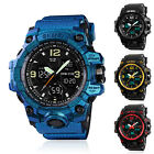 SKMEI Men's Digital Tactical LED Chime Date Dual Time Analog Sport Quartz Watch image