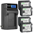 Kastar Battery LCD Wall Charger for Canon BP-808 & Canon HF G10 HF G20 Camera