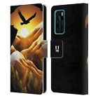 HEAD CASE ANIMAL DOUBLE EXPOSURE LEATHER BOOK CASE FOR HUAWEI PHONES