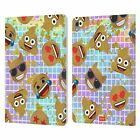 OFFICIAL emoji® GOLD SEQUIN PRINTS LEATHER BOOK CASE FOR APPLE iPAD