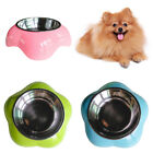 SN_ Pet Dog Stainless Steel Feeding Bowl Anti Skid Food Water Dish Storage Con