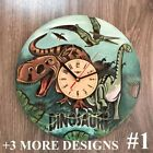DINOSAURS Wall Clock MODERN Wall Art Silent Wooden Clock Unique Clock for kids